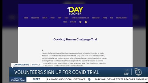 Volunteers sign up for potential COVID-19 trial