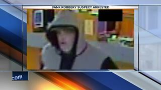 Sheboygan bank robbery suspect arrested