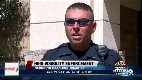 High visibility enforcement program resurrected in Oro Valley