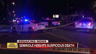 Tampa Police confirm suspicious death in Seminole Heights blocks away from recent murders - Video