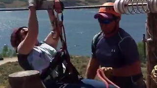 Woman's Zip Line Experience Doesn't Exactly Go As Planned - Video