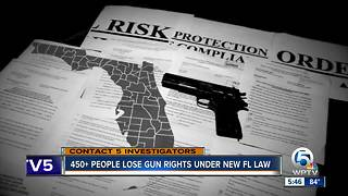 450+ people lose gun rights under new Florida law - Video