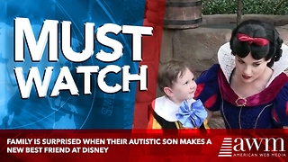 Family Is Surprised When Their Autistic Son Makes A New Best Friend At Disney - Video