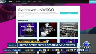 Inwego offers show & sports event tickets - Video