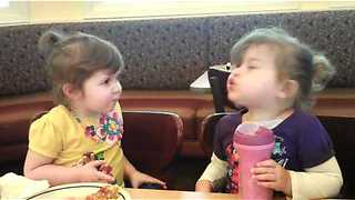 Toddlers engage in most hilarious debate over