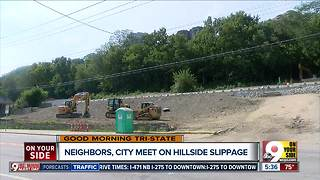 Neighbors, city meeting on Riverside Drive hillside slippage - Video