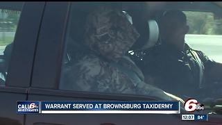 Indiana DNR raiding Hendricks Co. taxidermy business after Call 6 investigation - Video