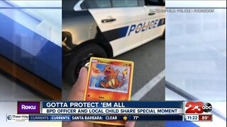 Bakersfield Police officer calms child through mutual love of Pokemon