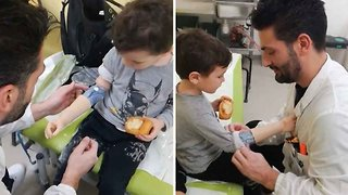 Touching moment four-year-old becomes euphoric over new bionic arm