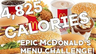 Watch This Model Polish Off Almost 5,000 Calories Worth of McDonald's - Video