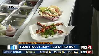 Rollin' Raw Bar food truck 8:15AM - Video
