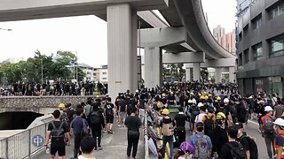 Hong Kong Police Fire Tear Gas During Yuen Long Protests