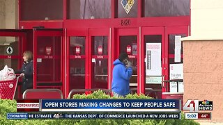 Open stores make changes to keep customers safe