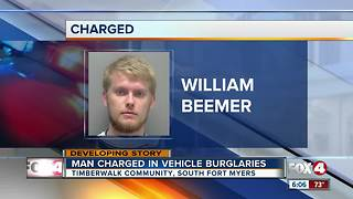 Man Charged in Vehicle Burglaries - Video