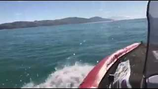 Man Attempts to Sail New Zealand's South Island in an Inflatable Boat - Video