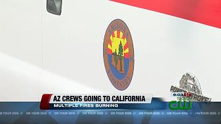 125 Arizona firefighters sent to California for wildfires - Video