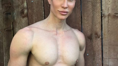 Human ken doll $15,000 (£10kgbp) procedure to thicken hairline and emulate Elvis's hair works so well he's left trimming eyebrows and sideburns every day