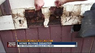 First time homebuyers left with disaster home after skipping the inspection - Video