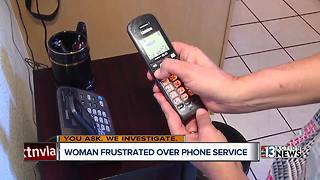 Woman frustrated by landline phone service outage in her area - Video