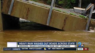 Bridge collapses in Baltimore County after heavy rains, high waters - Video