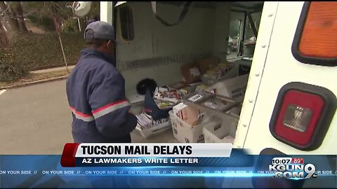 Lawmakers taking Tucson mail delays to federal government