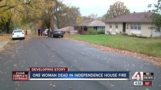 Woman dead in Independence house fire