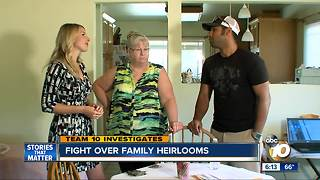San Diego family fighting for valuable heirlooms - Video