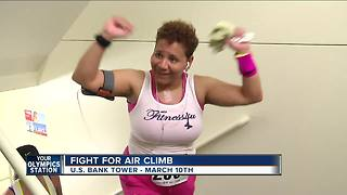 National take the stairs day, fight for air climb - Video
