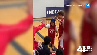 Olathe eighth-grader with special needs enjoys special moment on basketball court