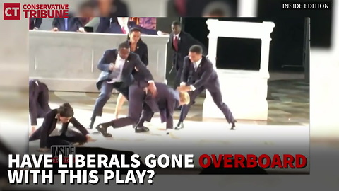 """Watch: Protesters Interrupt """"Trump Murder"""" NYC Play Again"""