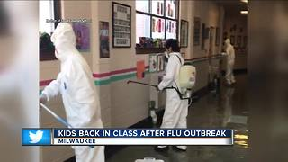 Milwaukee elementary school reopens after flu outbreak - Video