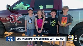 Valley boy raises money for friend with cancer