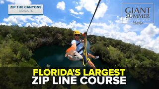 Florida's largest zip line course 'Zip the Canyons' | Giant Summer Adventure