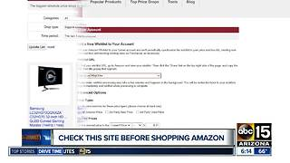Check this site before shopping Amazon - Video