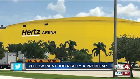 'Let's be Frank': Thoughts on painting the Hertz Arena yellow