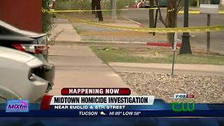 Police investigate midtown stabbing homicide - Video