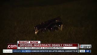 Crash kills 1 person in Summerlin | Breaking news - Video