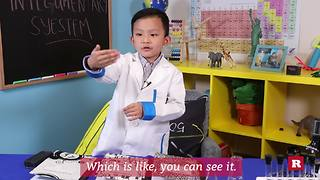 Anson Wong, boy genius, explains the importance of healthy hair, skin and nails - Video