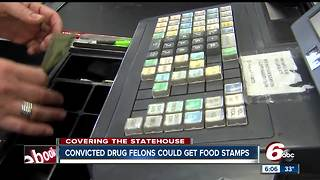 Bill would end ban on drug felons receiving food stamp benefits In Indiana - Video