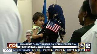 Jewish Museum of Maryland hosts Naturalization Ceremony for 20 new citizens - Video