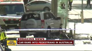 2 arrested after a car plows into shoppers in Melbourne, Australia, injuring more than a dozen - Video
