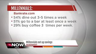 Millennials eating up their savings by going out