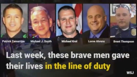 Tribute to Dallas Officers