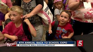 Back To School Expo Held At Rivergate Mall - Video