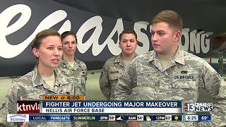 Nellis Air Force Base unveils Vegas Strong fighter jet - Video