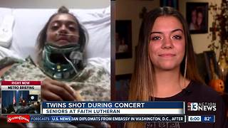 Faith Lutheran High and Middle School rally around twin sisters, alumnus shot - Video