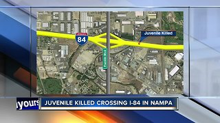 Juvenile pedestrian dies after being hit by commercial truck on I-84 near Franklin Boulevard