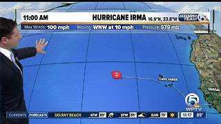 Irma now a Category 2 hurricane