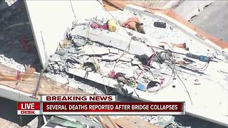 Several deaths reported after bridge collapses at FIU in Miami - Video