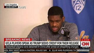 UCLA Basketball Players Thank Trump For Intervening on Their Behalf in China - Video